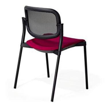 Upholstered Step Mesh Back Chair