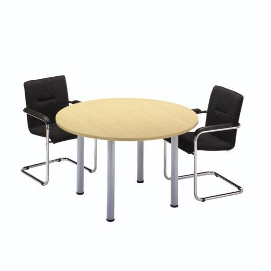 Circular Tubular Leg Meeting Table