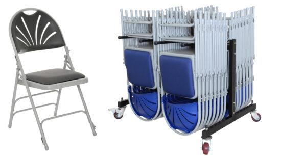Fan Back Upholstered Folding Chair Package