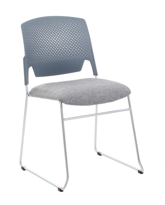 Edge Upholstered Sled Base Chair